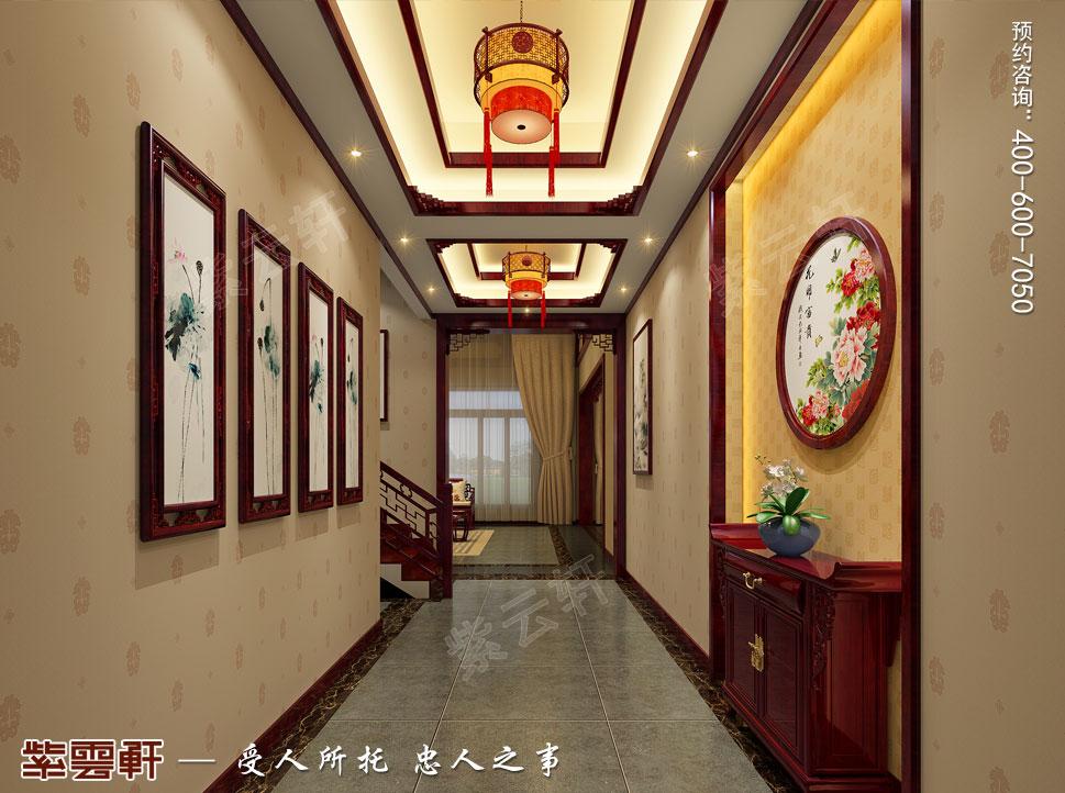 河北邢台古典中式装修效果图,入户玄关中式装修
