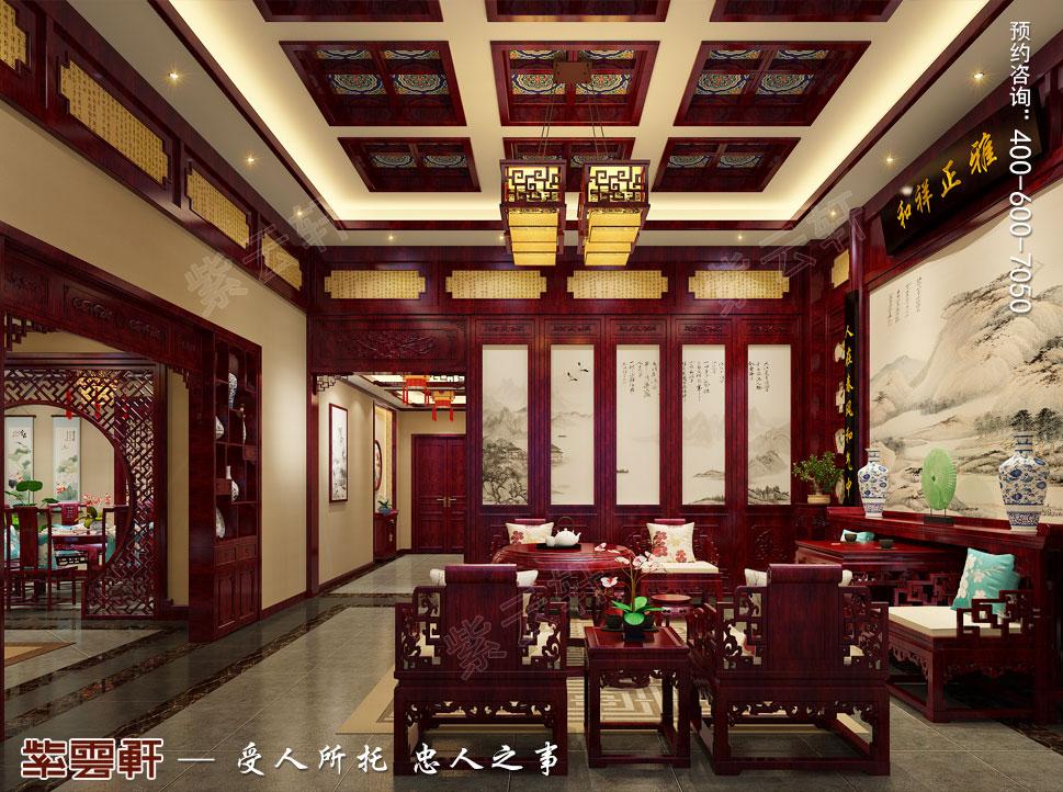 河北邢台古典中式装修效果图,中堂中式装修