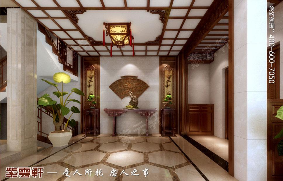 江苏南通简约现代中式装修设计,门厅中式装修设计