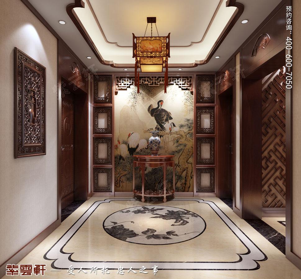 江苏南通简约现代中式装修设计,走廊中式装修设计