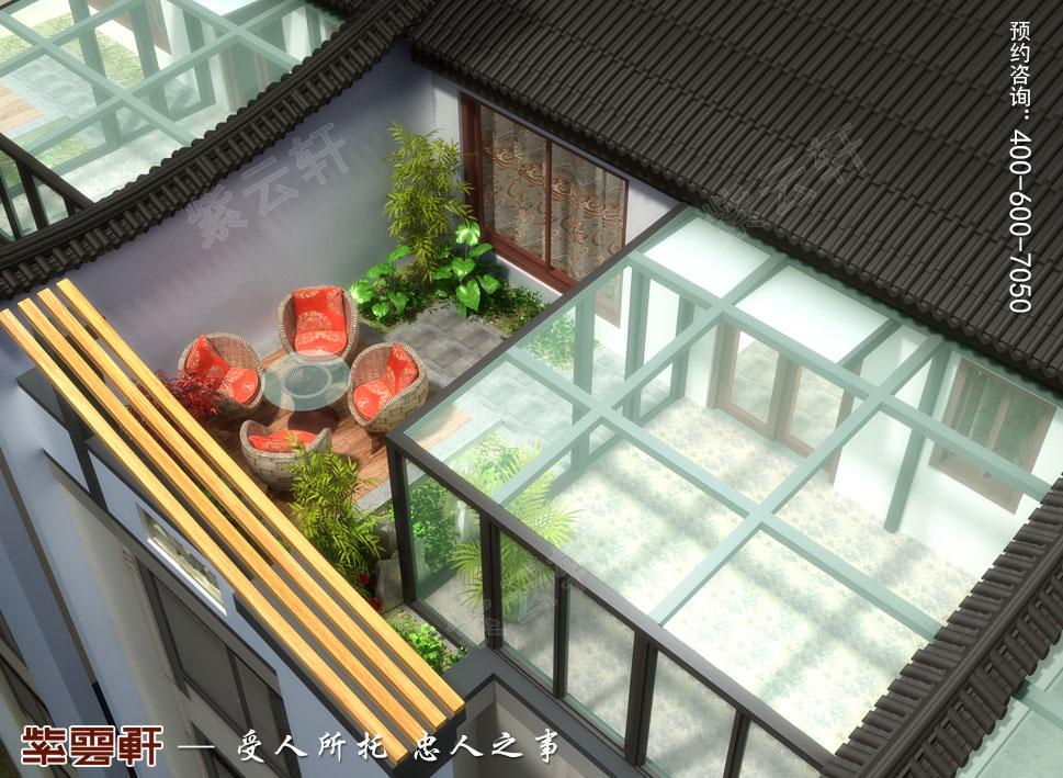 江苏南通简约现代中式装修设计,阳台中式设计