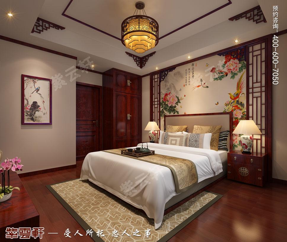 天津武清别墅现代中式风格装修效果图,老人中式装修