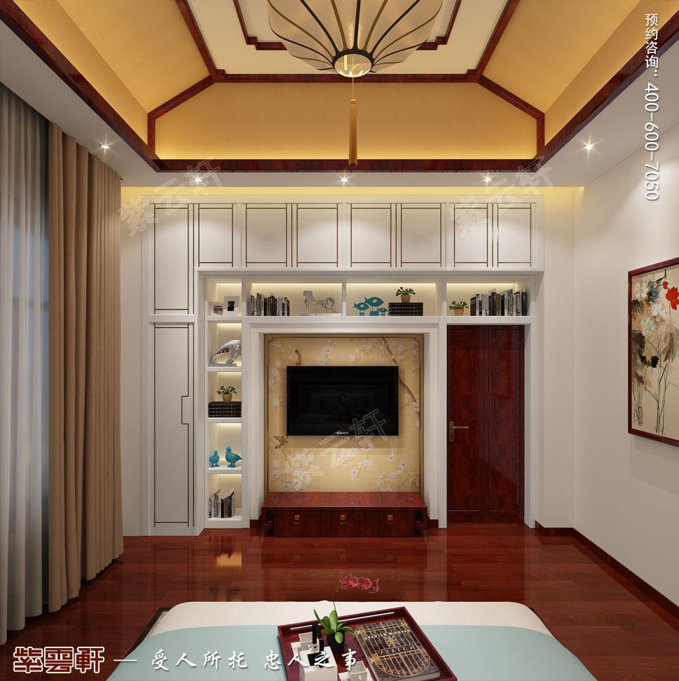 天津武清别墅现代中式风格装修效果图,儿童房中式设计