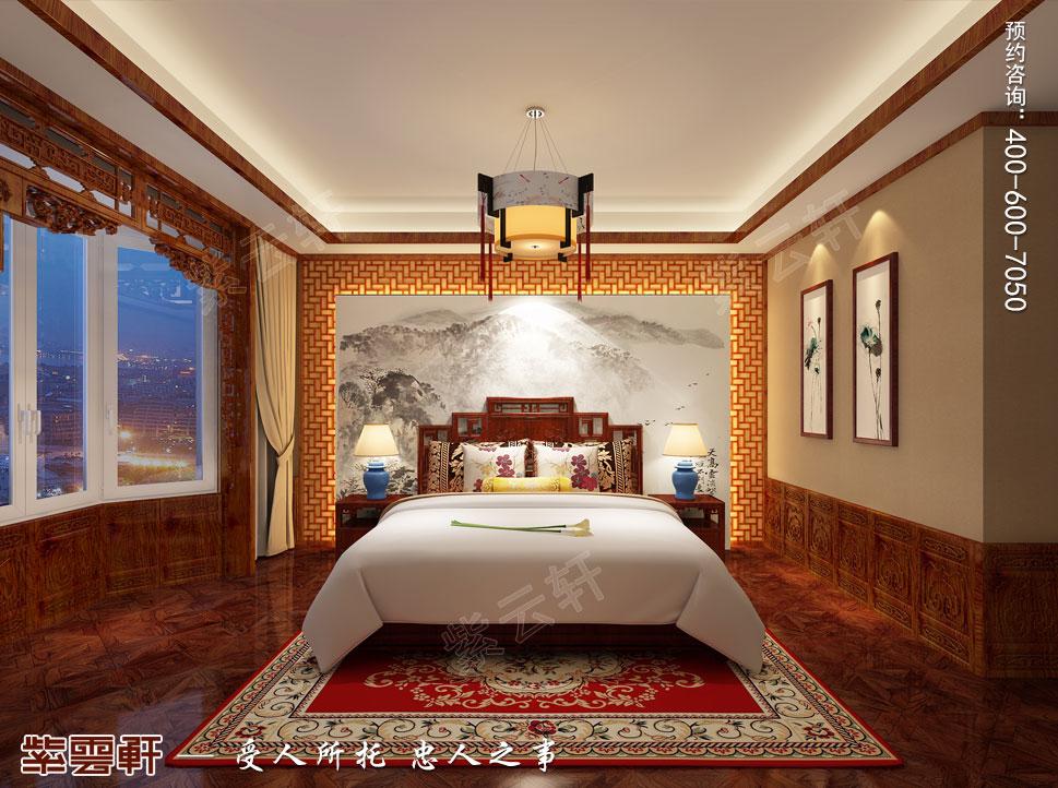 长治古典中式风格独栋别墅装修图,老人房中式装修设计