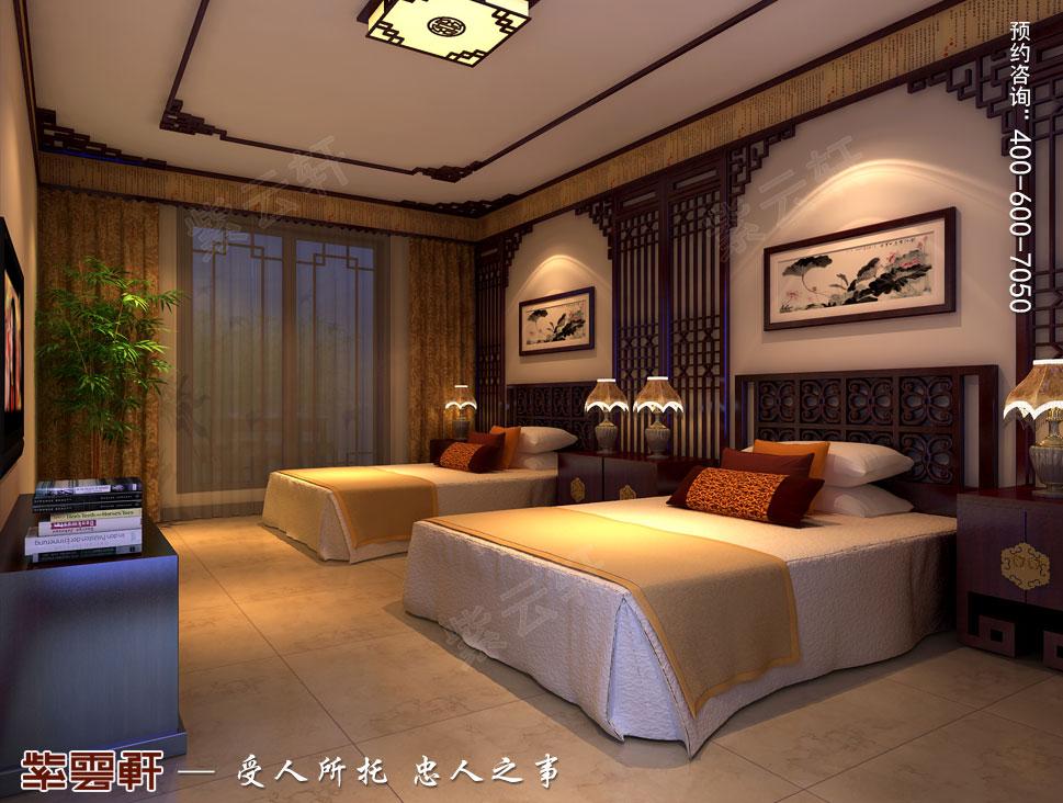 北京湾别墅复古中式装修效果图,儿童房中式设计
