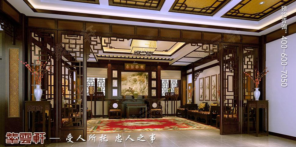 江苏扬中别墅古典中式装修效果图,门厅中式装修效果图