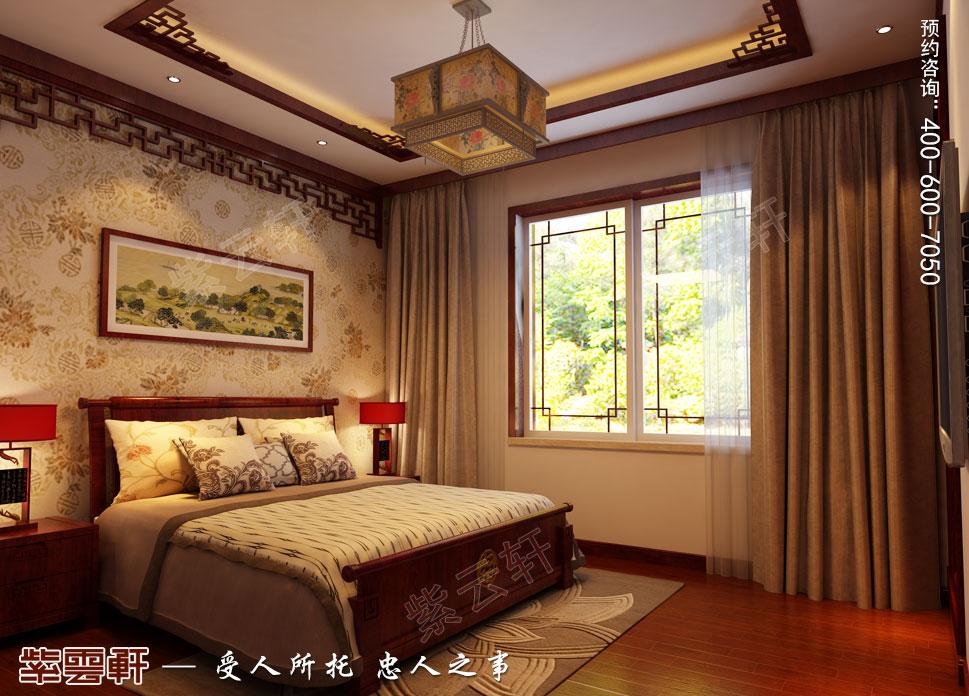 江苏昆山天伦随园古典中式装修风格,老人房中式装修