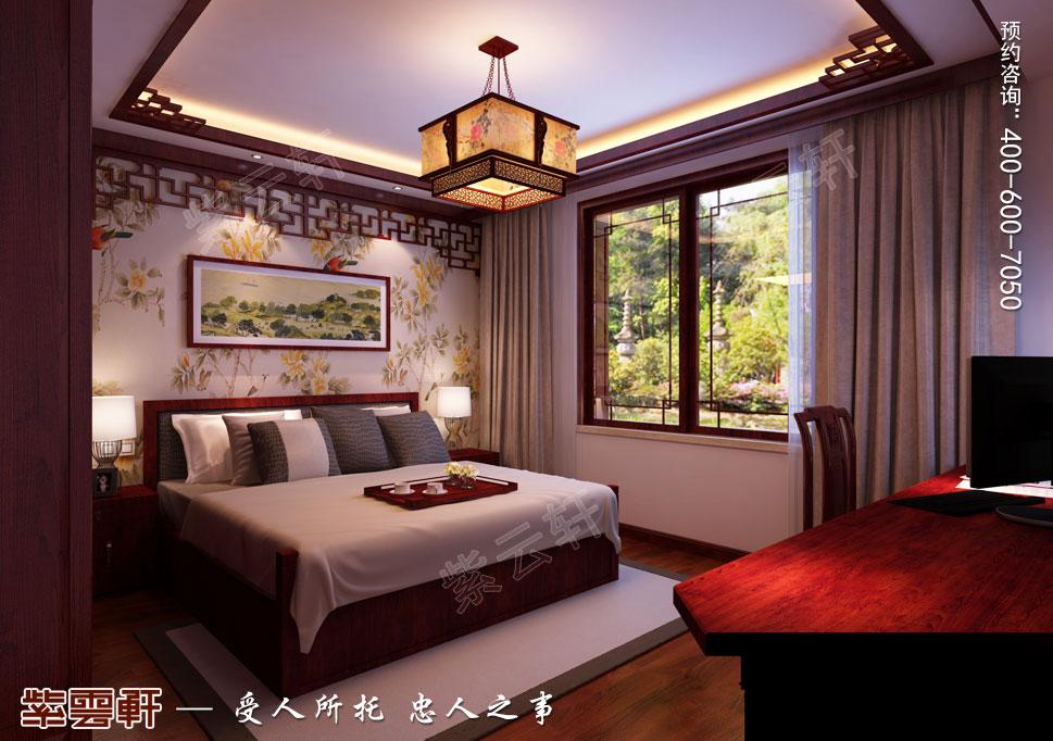江苏昆山天伦随园古典中式装修风格,次卧中式装修设计图