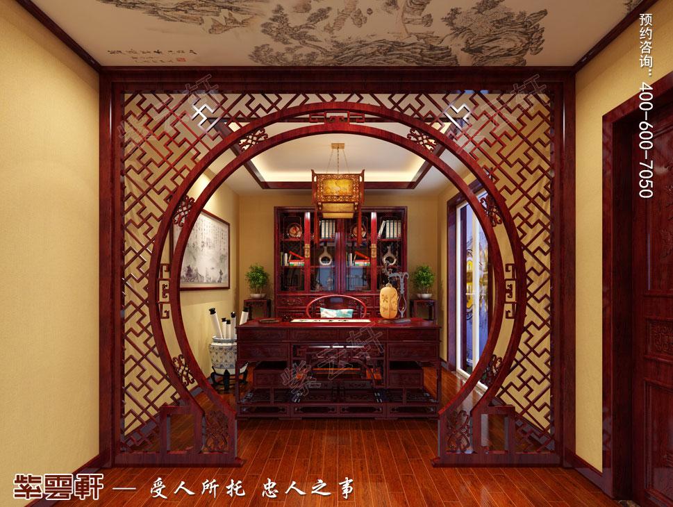 北京御汤山古典中式别墅装修效果图,主卧中式装修