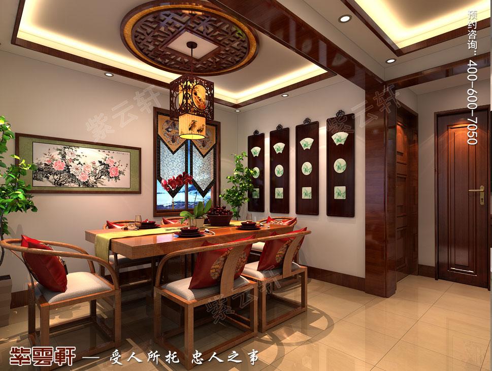 北京大兴别墅新中式装修效果图,茶区中式设计
