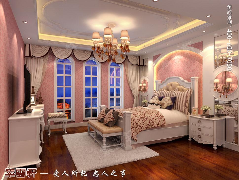 北京大兴别墅新中式装修效果图,中式风格女儿房设计图