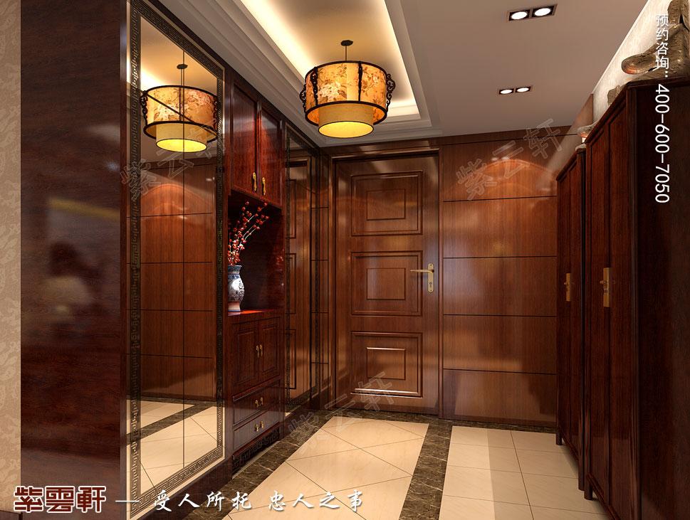 北京大兴别墅新中式装修效果图,主卧中式装修设计
