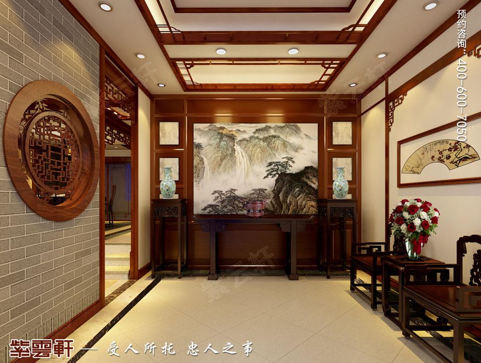 浙江义乌别墅简约古典中式装修图片,门厅中式设计