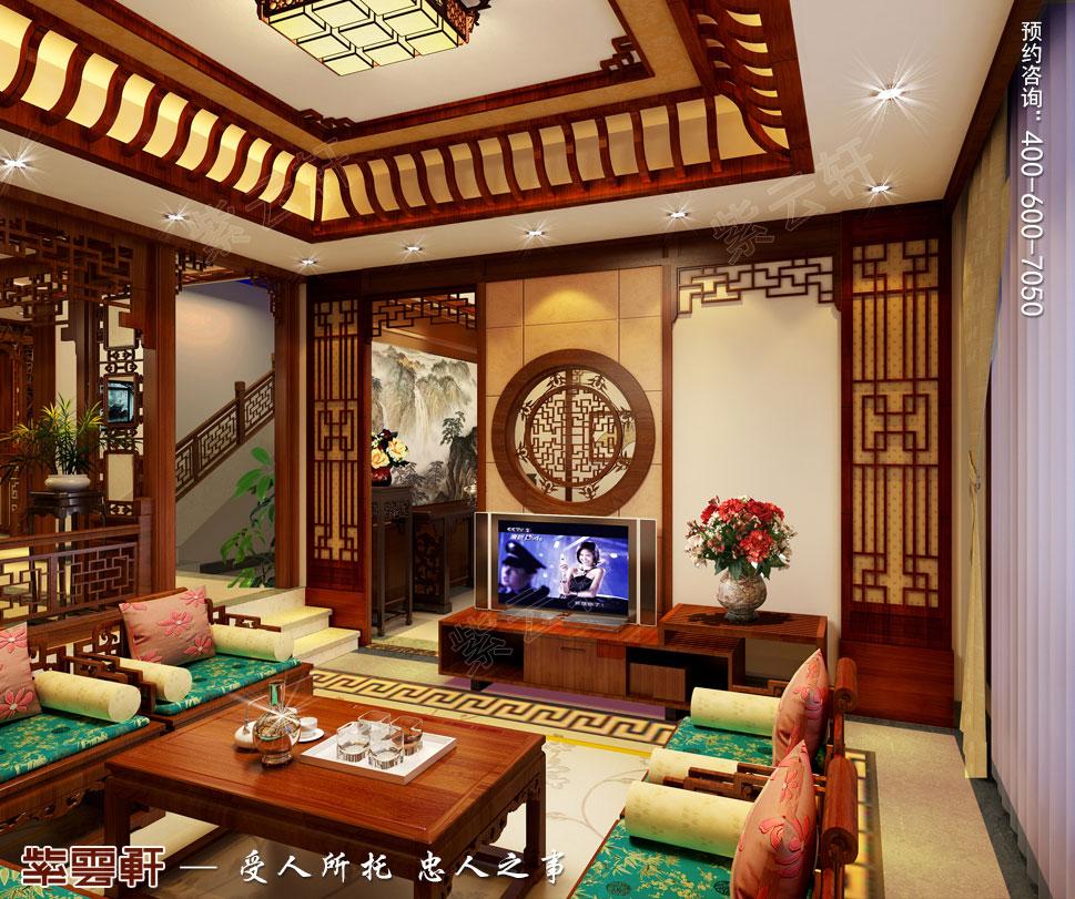 浙江义乌别墅简约古典中式装修图片,客厅中式装修效果图