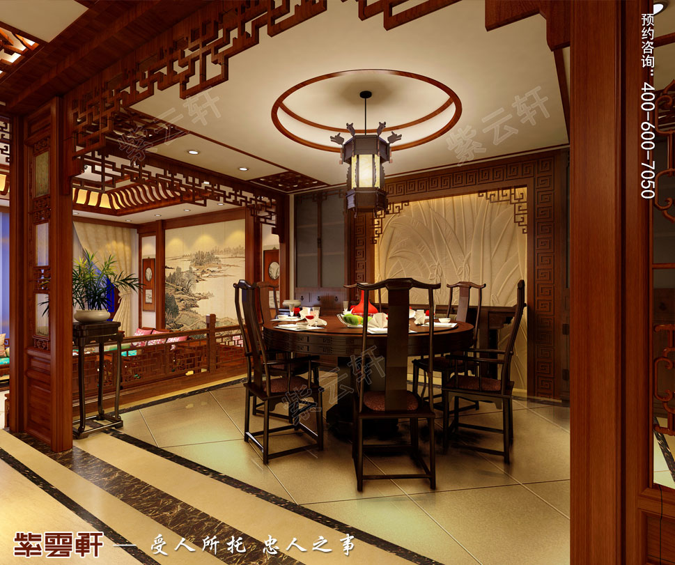 浙江义乌别墅简约古典中式装修图片,中式餐厅设计图