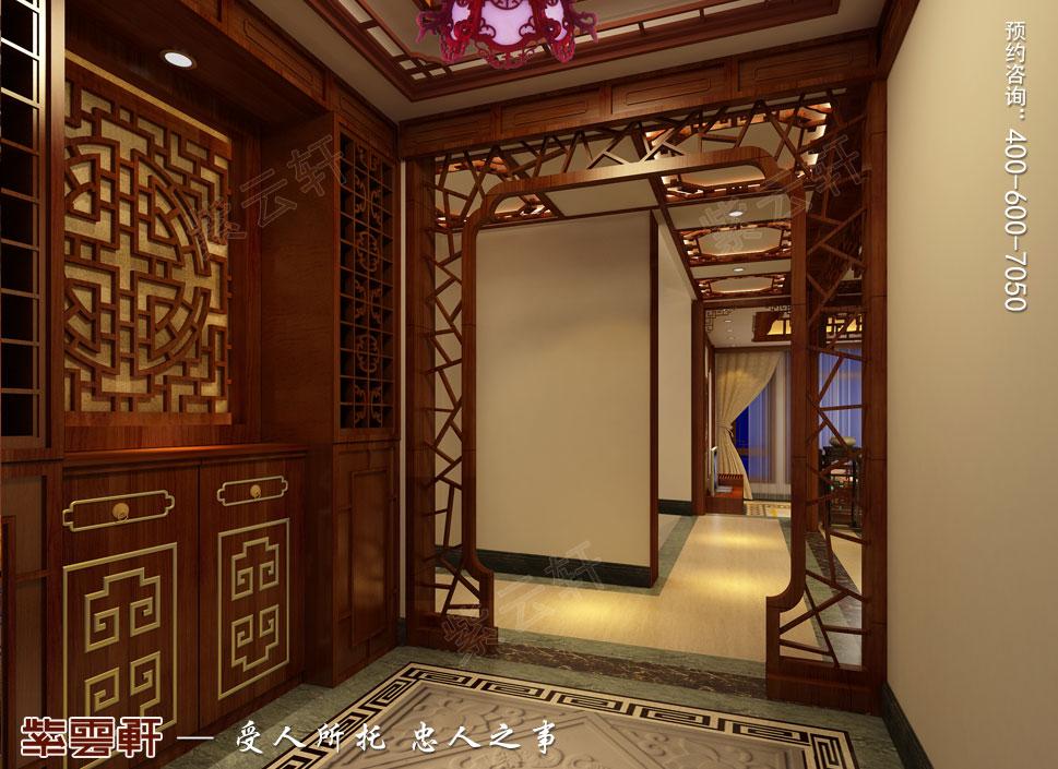 浙江义乌别墅简约古典中式装修图片,过道中式装修