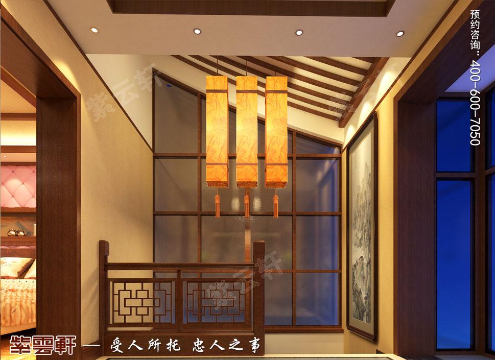 浙江义乌别墅简约古典中式装修图片,楼梯设计图