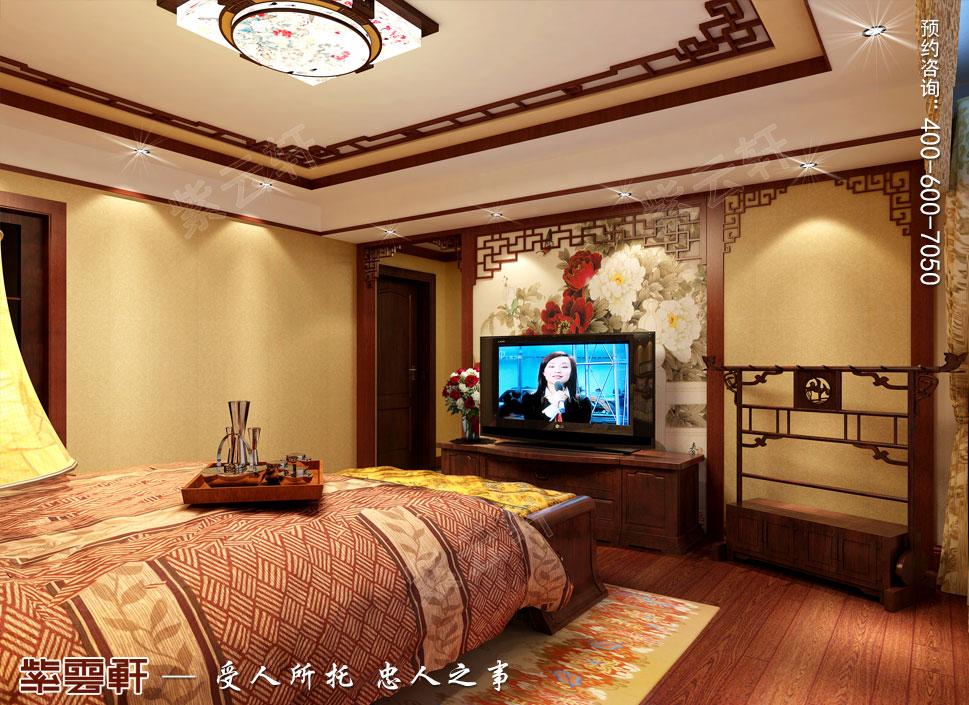 浙江义乌别墅简约古典中式装修图片,主卧中式装修设计