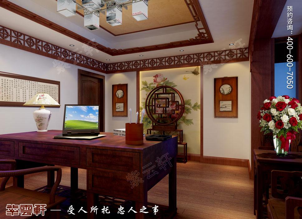 浙江义乌别墅简约古典中式装修图片,中式书房设计图