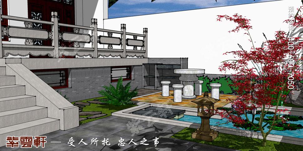 浙江义乌别墅简约古典中式装修图片,中式庭院设计图