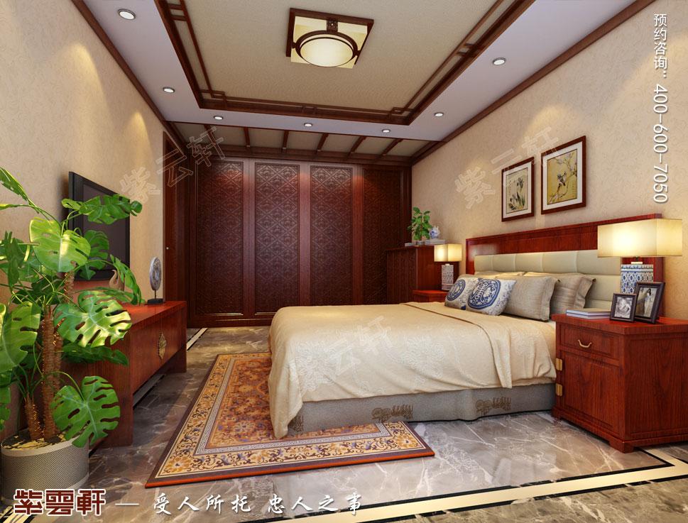 浙江东阳别墅简约中式装修效果图,客房中式风格装修