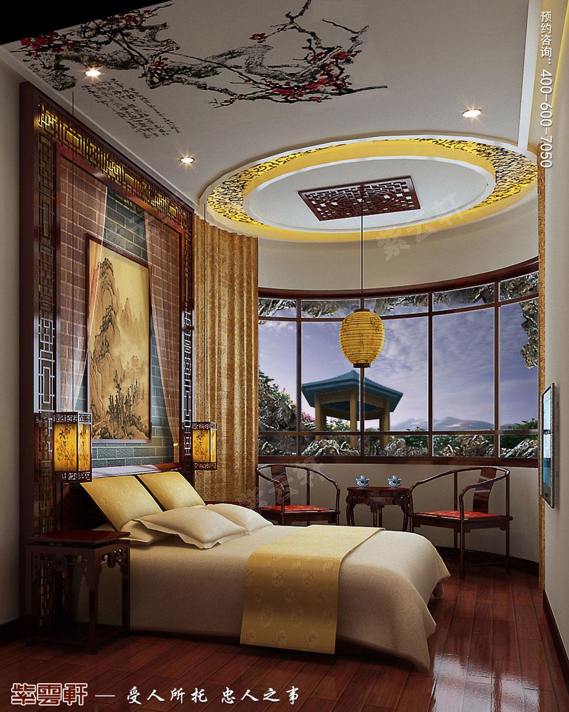 成都别墅豪宅装修中式效果图,客卧中式装修效果图