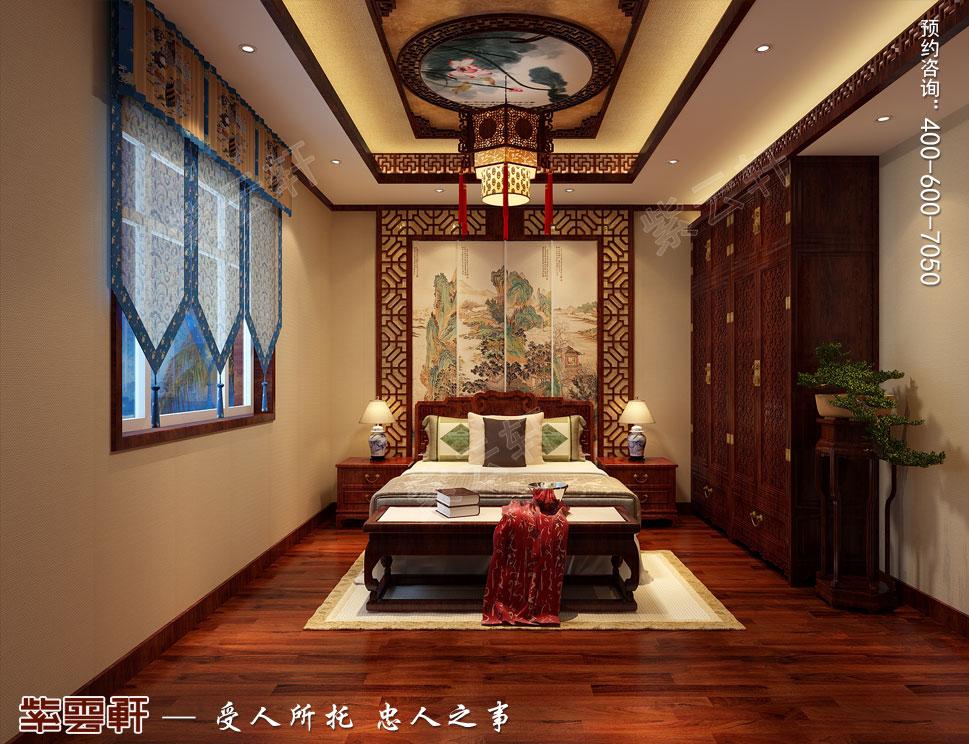 北京御汤山李总别墅装修效果图,次卧中式装修图
