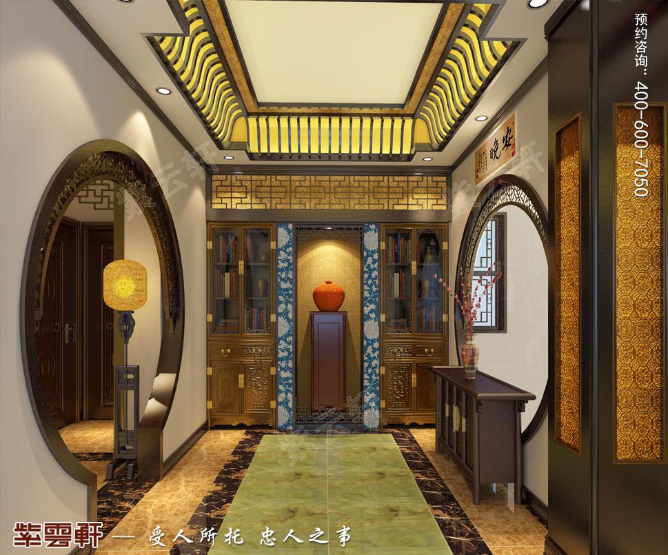 简约古典中式设计南京别墅装修案例欣赏,过道中式装修图