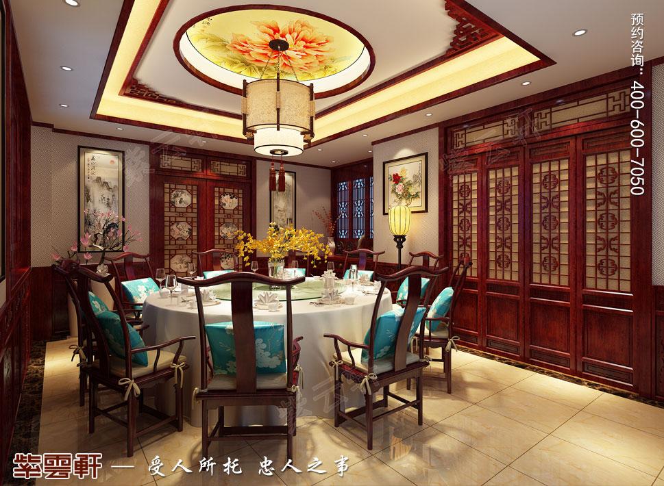 山东即墨别墅传统风格装修图片,中式风格餐厅装修设计图