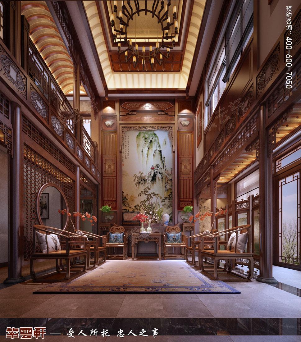 南京纯古典中式别墅装修效果图,中堂中式风格装修