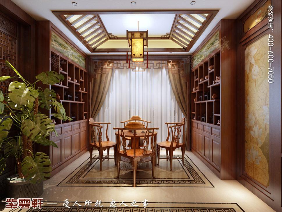 南京纯古典中式别墅装修效果图,茶室中式设计