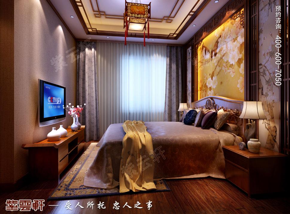 南京纯古典中式别墅装修效果图,长辈房中式装修