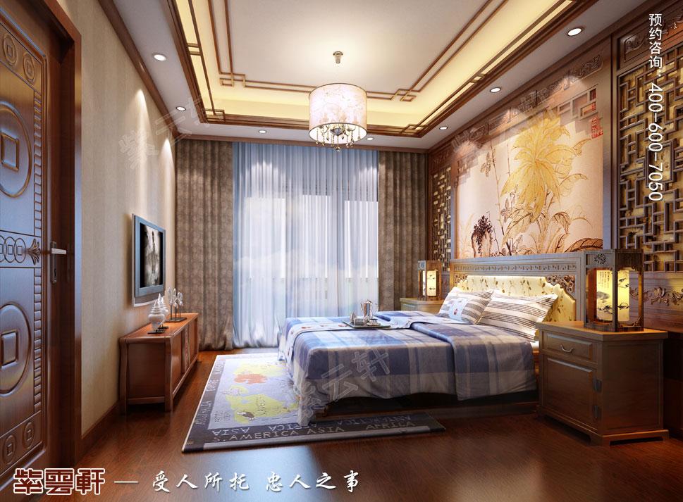 南京纯古典中式别墅装修效果图,男孩房中式装修