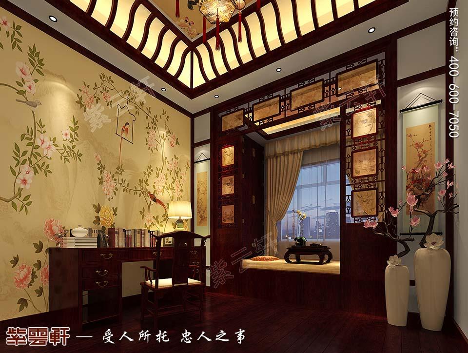 河北邢台白总豪华别墅古典中式装修案例,暖阁次卧中式装修图