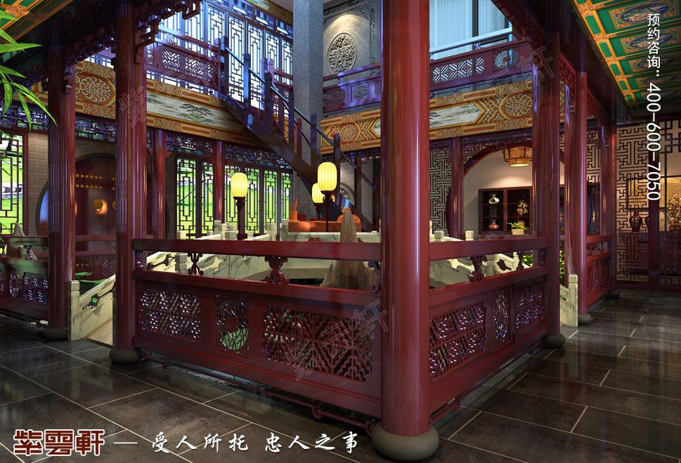 北京湾别墅古典中式装修风格,庭院中式装修