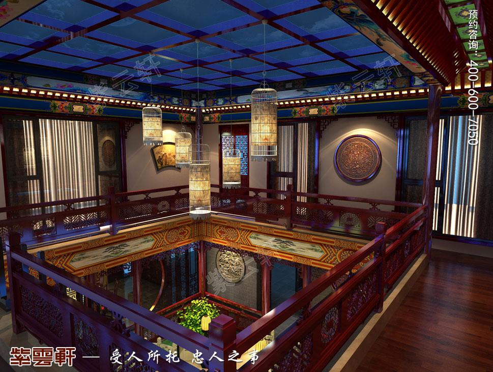 北京湾别墅古典中式装修风格,露台中式设计