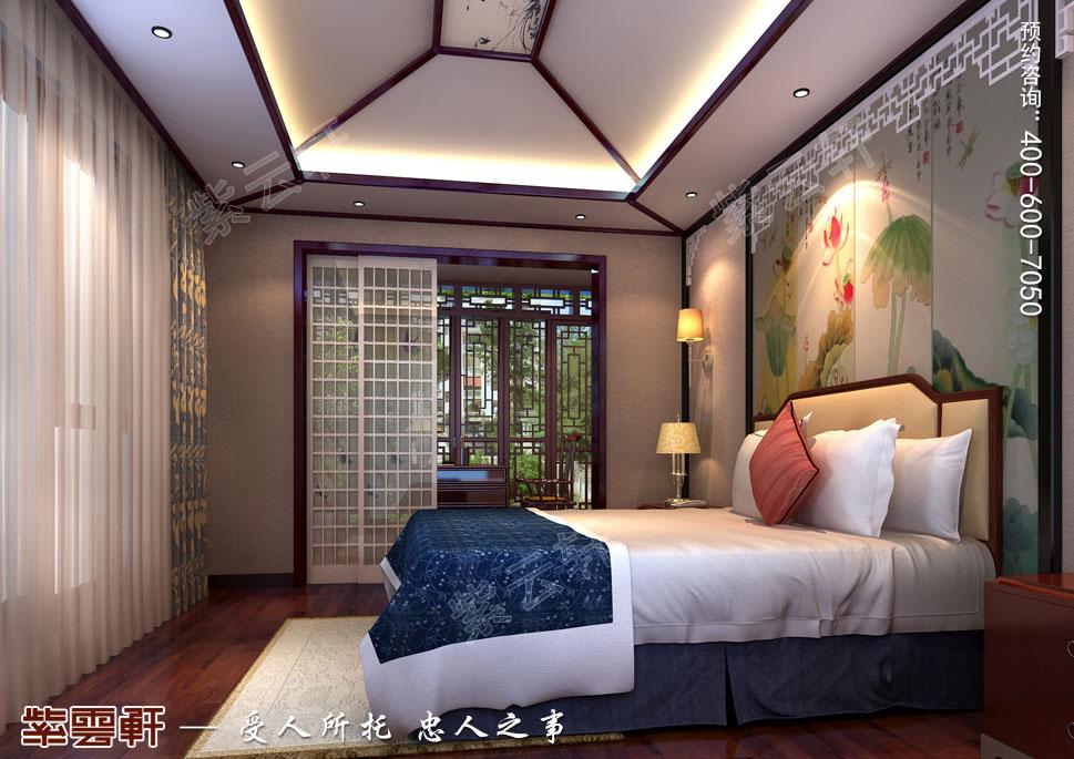 北京湾别墅古典中式装修风格,女儿房中式装修