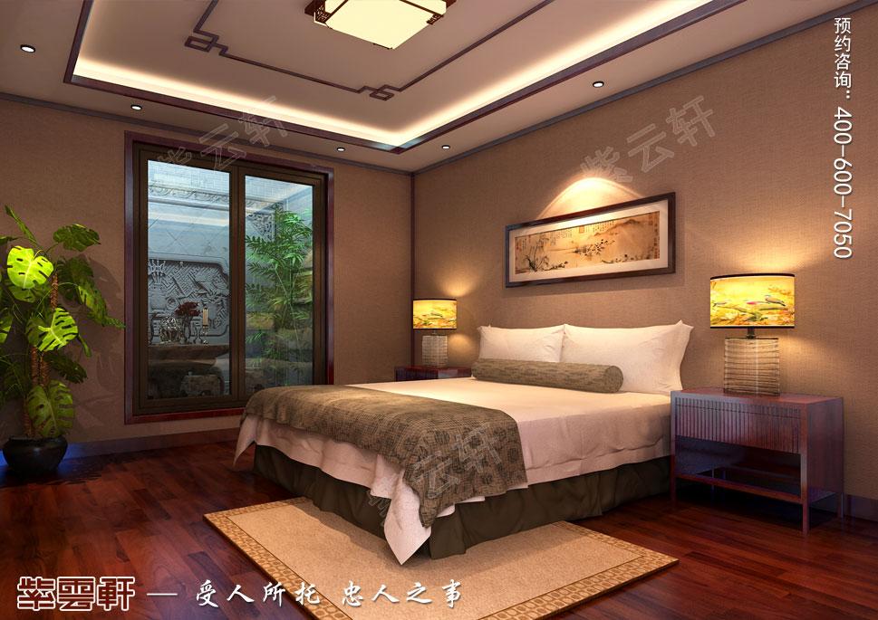北京湾别墅古典中式装修风格,中式老人房装修