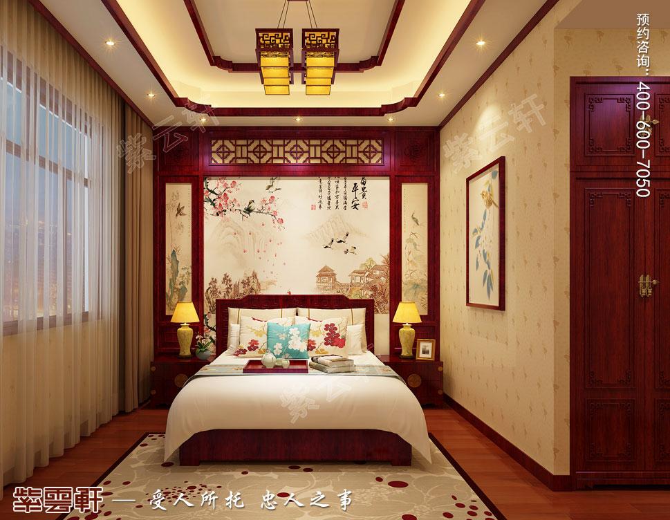 现代中式风格别墅装修效果图,客卧中式装修