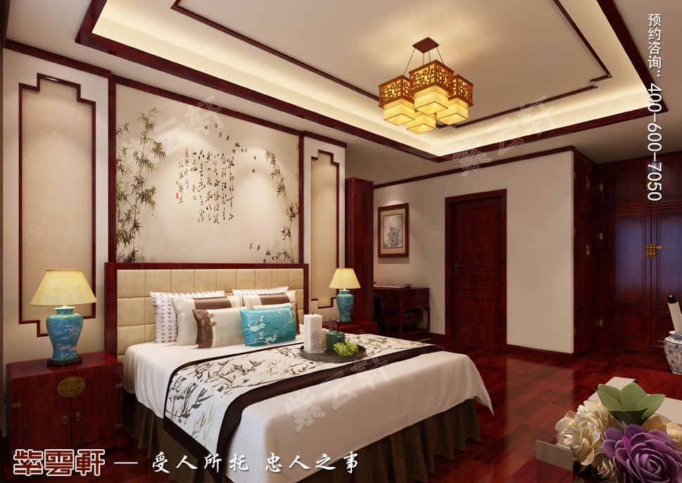现代中式风格别墅装修效果图,男孩房中式设计