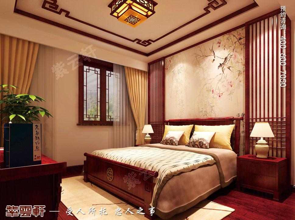 江苏泰州肖总别墅中式装修案例,次卧中式装修图