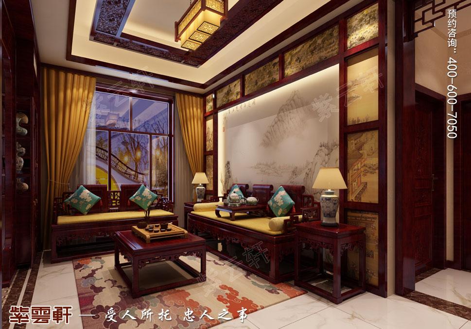 内蒙古赤峰古典中式装修效果图,起居室中式装修设计