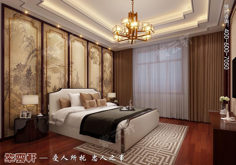 内蒙古赤峰古典中式装修效果图,客房中式装修