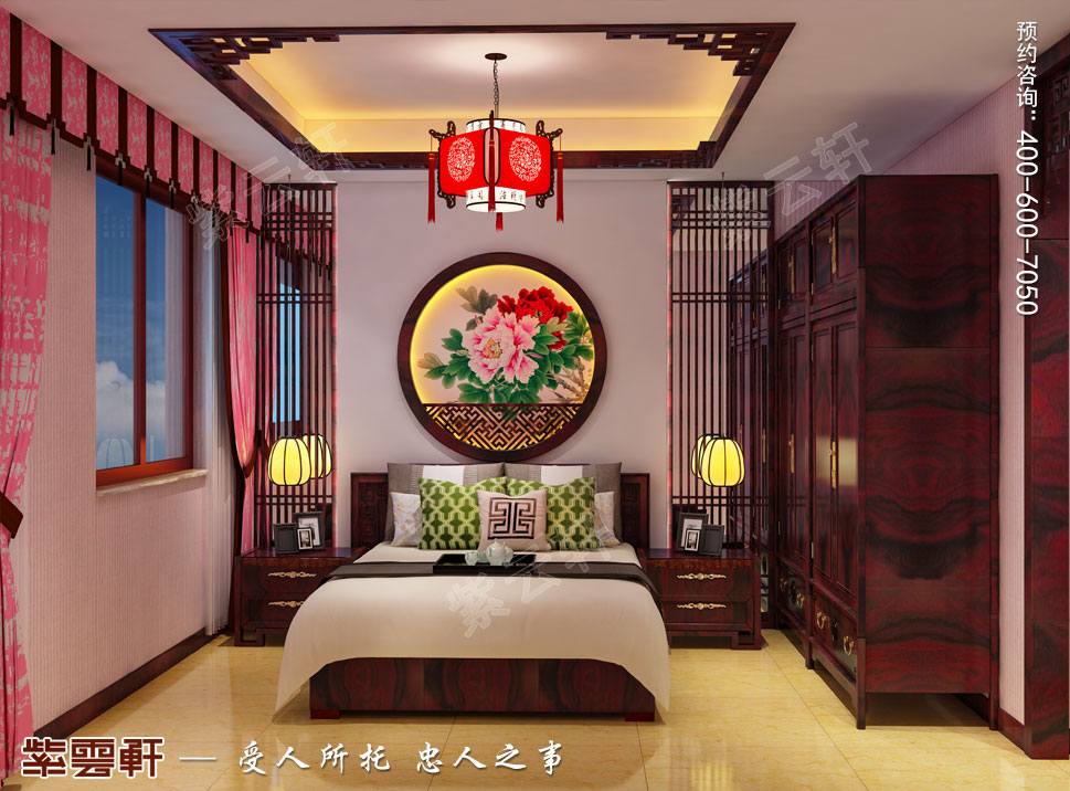 山东济南腊山御园中式别墅装修案例,女孩房中式风格设计