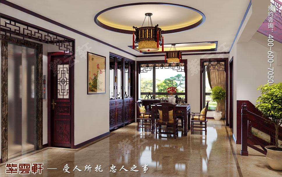 常州天誉花园别墅简约古典中式效果图,中式风格餐厅设计图