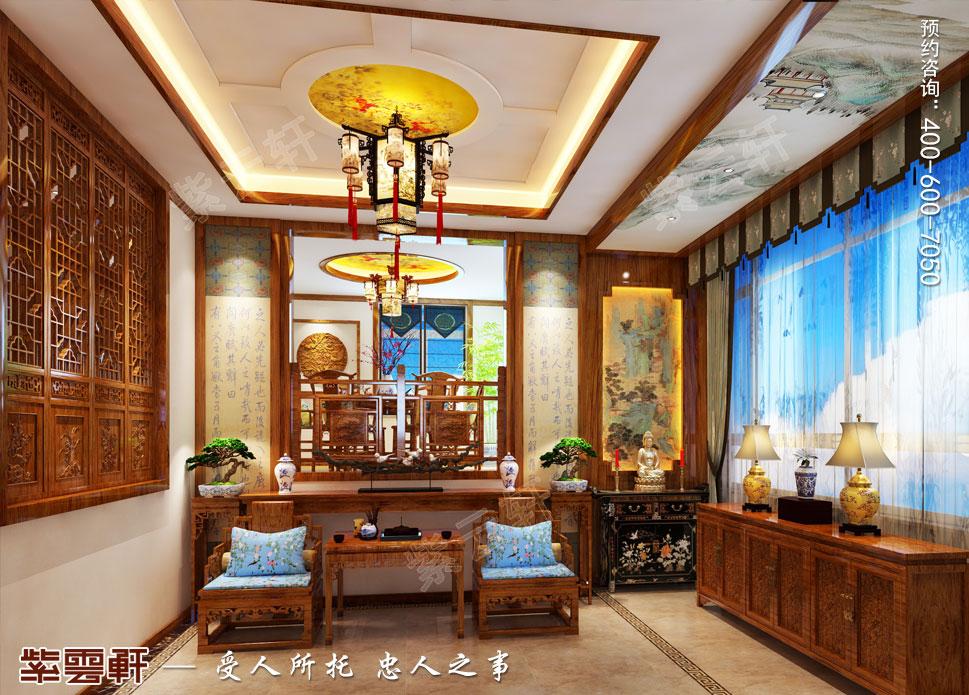 江苏扬州别墅简约中式装修风格,门厅中式设计图