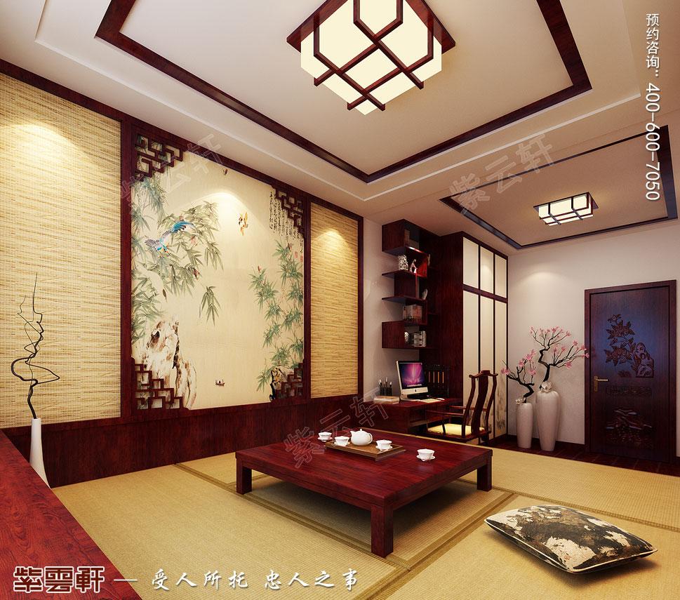 江苏扬州别墅简约中式装修风格,榻榻米中式风格设计
