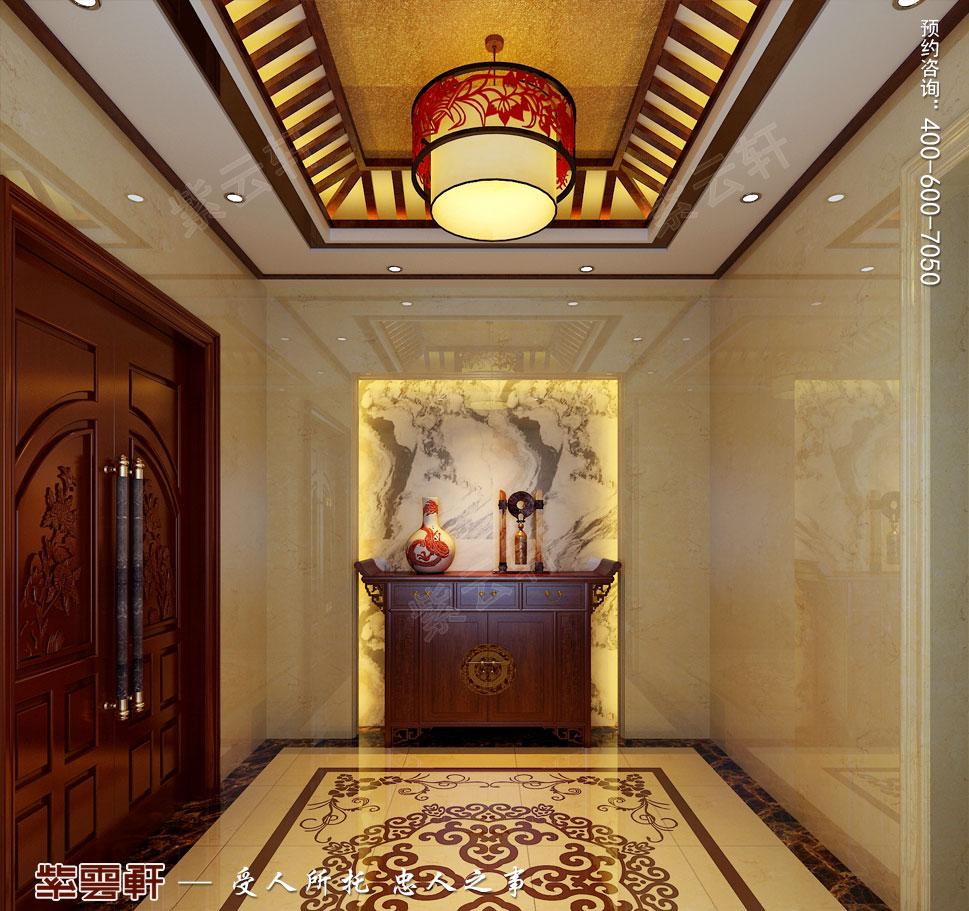 北京褐石园别墅现代豪华中式装修图,过道中式装修图