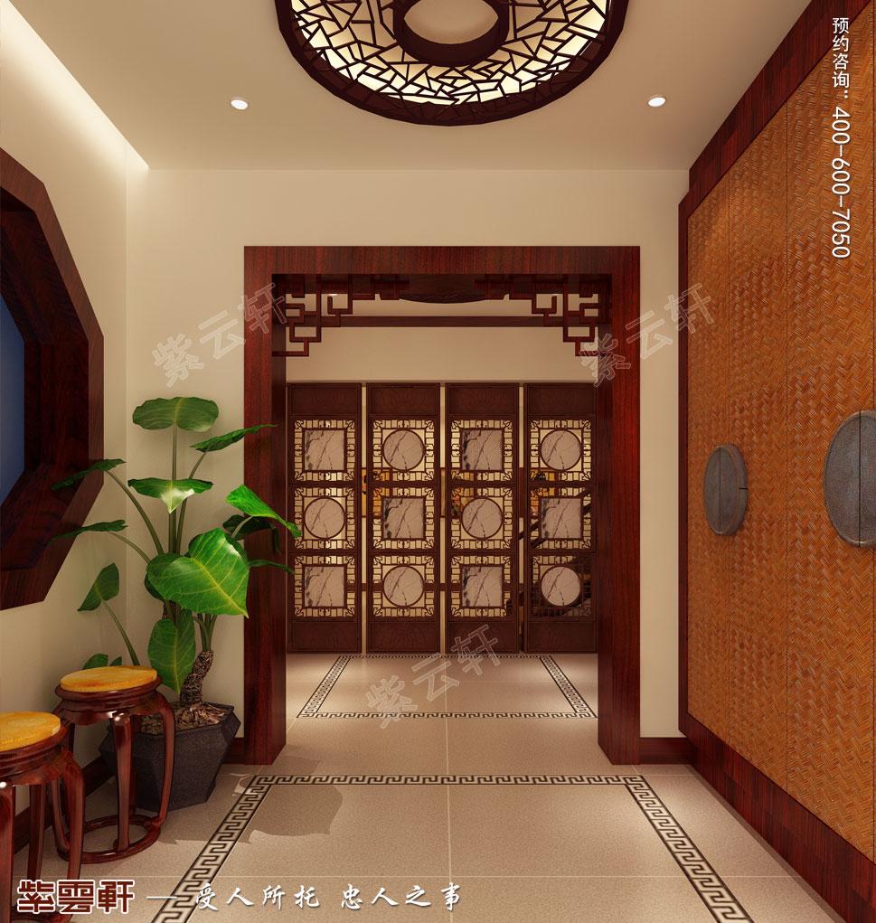 苏州别墅现代中式装修图片,现代中式玄关装修设计