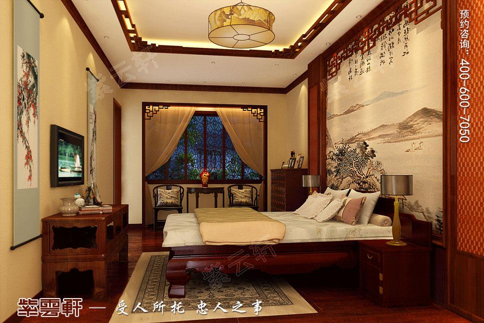 苏州别墅现代中式装修图片,老人房中式装修设计